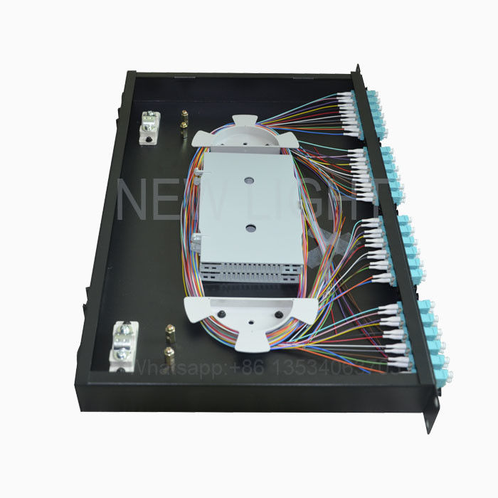 12 24 48 96 Port Fiber Optic Distribution Frame / Fiber Optic Distribution Panel